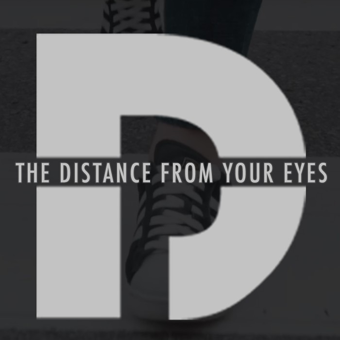 The distance from your eyes cover